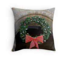 Decked out for the Holidays in SLC Throw Pillow