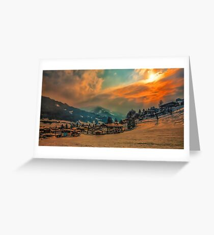 a stunning Austria landscape Greeting Card