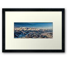 a historic Austria landscape Framed Print