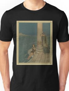 Stories from Hans Andersen - Art by Edmund Dulac - 1911 - 0203 - The Mermaid - The Prince Asked Who She Was Unisex T-Shirt