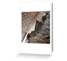 Walking in Parallel world Greeting Card