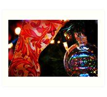 Ornament & Ribbon Art Print