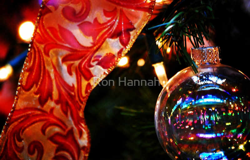 Ornament & Ribbon by Ron Hannah
