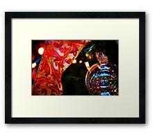 Ornament & Ribbon Framed Print