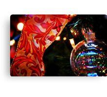Ornament & Ribbon Canvas Print
