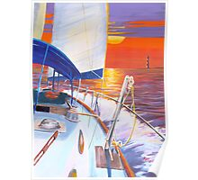""""""" Into the Sunset """" Charleston SC  Poster"""