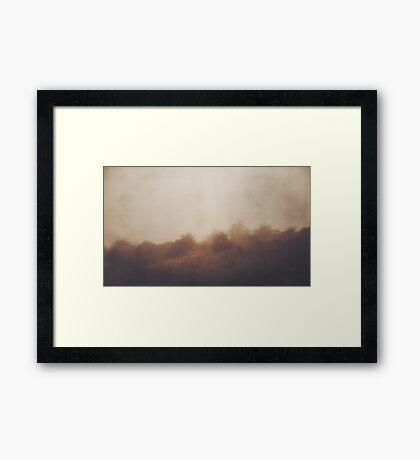 Seek Me in the Fog Framed Print