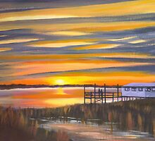 """ Bowens Island Sunset "" Charleston SC by Matthew Campbell"