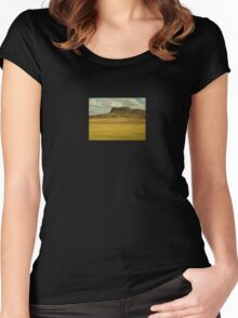 RURAL AMERICA  Women's Fitted Scoop T-Shirt