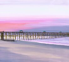 """ Folly Beach Pier "" Folly Beach SC USA by Matthew Campbell"