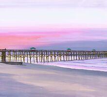 """ Folly Beach Pier "" Folly Beach SC USA by Matthew Campbell"