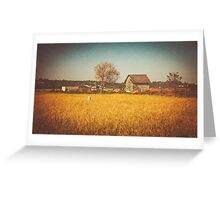 A Place to Rest after Harvest Greeting Card