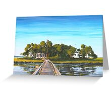 """ Pair-o-dice Island "" Beaufort SC USA Greeting Card"