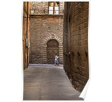 Woman in Alley - Siena Poster