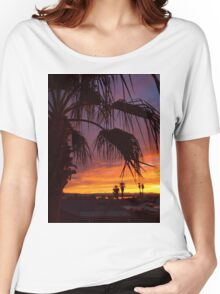 Palm Sunset Women's Relaxed Fit T-Shirt