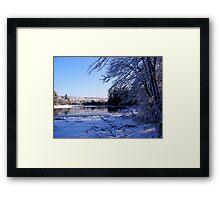 Winter on the lake II Framed Print