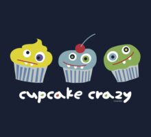 cupcake crazy - dark Kids Tee