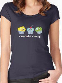 cupcake crazy - dark Women's Fitted Scoop T-Shirt