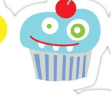 cupcake crazy - dark Sticker