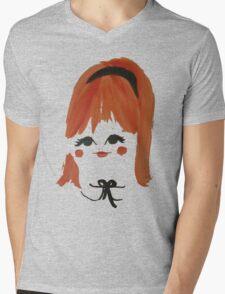 Sweet Retro Redhead Mens V-Neck T-Shirt