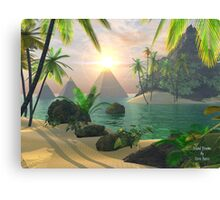 Island Dreams of a Waking Vision Canvas Print