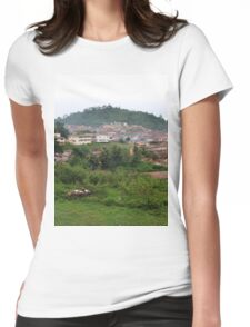 a desolate Nigeria landscape Womens Fitted T-Shirt