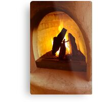 Adobe fireplace Metal Print
