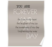 Forever and A Day Poem Poster