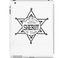 Heathers Sheriff Badge iPad Case/Skin