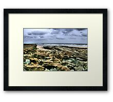 """A Rocky Approach to Cocklawburn Beach"" Framed Print"