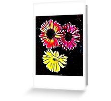 Fractalius Flowers Greeting Card