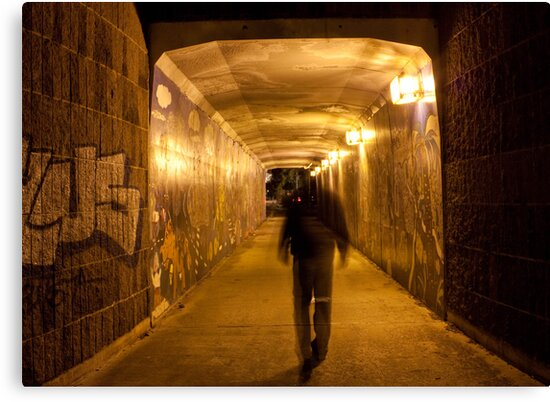 Entering pedestrian tunnel by Ian Stevenson