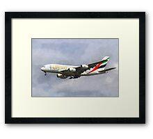 Emirates Airline A380 Art Framed Print