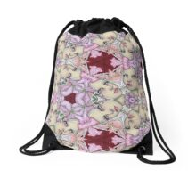 Lily and Girl Repeat Drawstring Bag