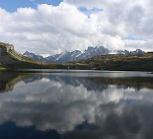 Mirror Lakes and Unreflected Mountains by Daniel Milligan