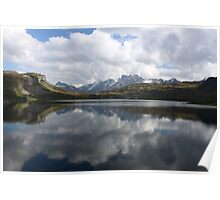 Mirror Lakes and Unreflected Mountains Poster