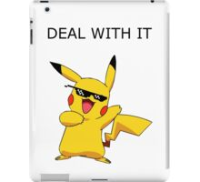 Pikachu - Deal with it iPad Case/Skin