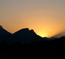 Pyrenees Sunset by Andy Leslie