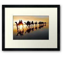 Camel Silhouette Framed Print