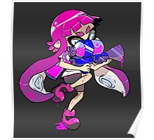 Squid Kid - Pink Poster