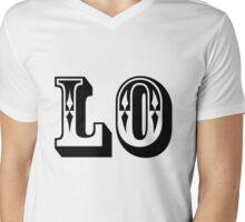 One half of LOVE Mens V-Neck T-Shirt