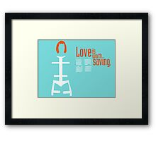 """Fifth Element Thermal Bandages/""""Love is Worth Saving"""" Framed Print"""