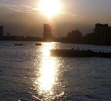 DUSK ON THE THAMES GREENWICH by jaygooden