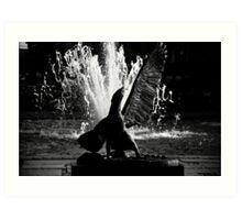 Eagles Fountain Art Print