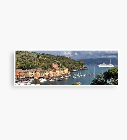 Portofino Panorama Canvas Print