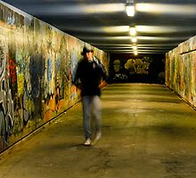 Underground graffiti and mystery man by Jorge's Photography