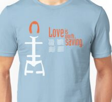 "Fifth Element Thermal Bandages/""Love is Worth Saving"" Unisex T-Shirt"