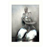 Fine Rhyme In Stainless Steel Art Print