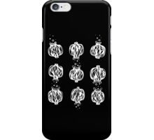 White on Black Poppy Seed Head Design iPhone Case/Skin