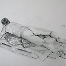 Life Drawing 16 by Mike Paget